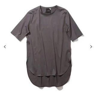 ATON エイトン ラウンドヘム Tシャツ チャコールグレー