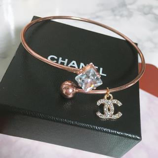 CHANEL - 新品 CHANEL ブレス ジルコニア ピンクゴールド