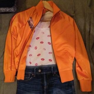 ギャップ(GAP)のオレンジとジーンズとリップ 三点セット(ミニスカート)