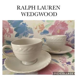 ラルフローレン(Ralph Lauren)のRALPH LAUREN WEDGWOOD ☆ カップ&ソーサー2客(グラス/カップ)