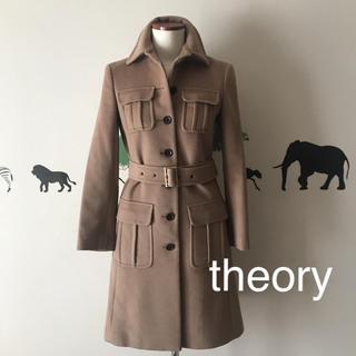 theory - theory ラインが綺麗 カシミヤアンゴラ入ロングコート