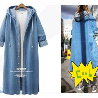 ファッション  フード付きデニムジャケット デニムコート   (Gジャン/デニムジャケット)