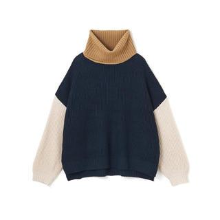 GRL - GRL 配色タートルネックニットトップス 新作 韓国ファッション 秋 冬 人気