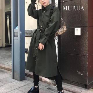 ムルーア(MURUA)の【MURUA】ナイロン ロングシャツ ムルーア(ロングワンピース/マキシワンピース)