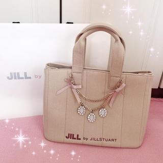 JILL by JILLSTUART - ☆JILL by JILLSTUART☆ジュエルリボントートバッグ☆ベージュ