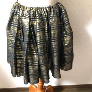 ゴールド フレアスカート(ミニスカート)