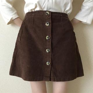 Kastane - 古着屋購入 used vintage コーデュロイスカート ミニスカート