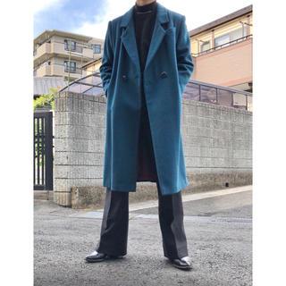 ジョンローレンスサリバン(JOHN LAWRENCE SULLIVAN)の超美色 sullen vintage blue green long coat(チェスターコート)