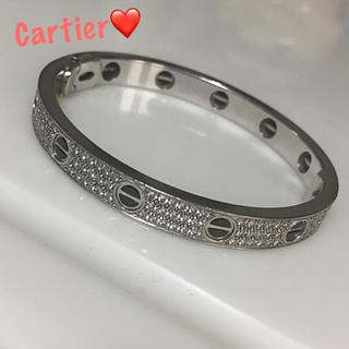 カルティエ(Cartier)の✨定5082000 Cartier オール 純正 フル ダイヤモンド ラブブレス(ブレスレット/バングル)
