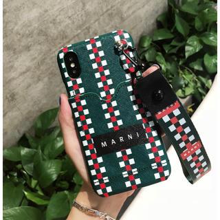 ユナイテッドアローズ(UNITED ARROWS)のマルニ iPhoneケース カード収納つき 緑 みどり(iPhoneケース)