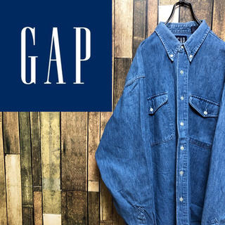 GAP - 【激レア】オールドギャップGAP☆フラップ付きダブルポケットデニムシャツ 90s