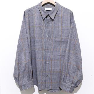 UNUSED - Graphpaper Wool Check Big Sleeve Shirt
