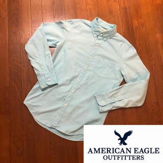 アメリカンイーグル(American Eagle)のAMERICAN EAGLE ライトブルーシャツ Sサイズ(シャツ)