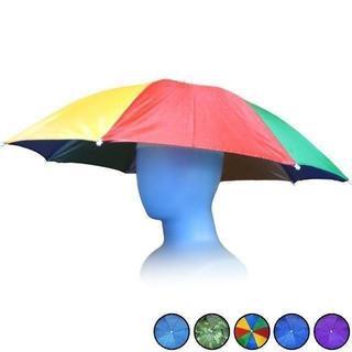 傘帽子 かぶる傘 フリーハンド 釣り・屋外イベント・観戦・アウトドア カラフル(日用品/生活雑貨)