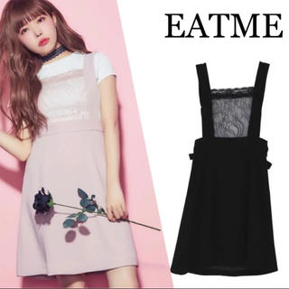 EATME - EATME♡レース♡フロント♡ミニ♡ジャンスカ♡ブラック♡M