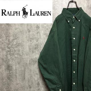 Ralph Lauren - 【激レア】ラルフローレン☆USA製ワンポイント刺繍ロゴボタンダウンシャツ 90s