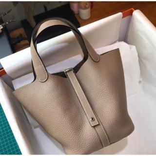 Hermes - Hermes トゥルティールグレー ピコタンロック グレー ハンドバッグ