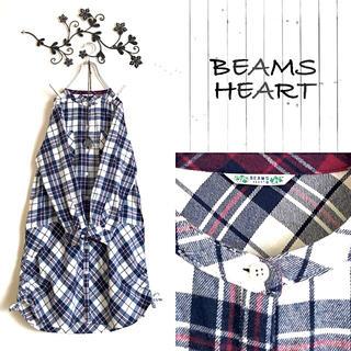 BEAMS - 新品*BEAMS HEART*ビームス ハート*秋冬起毛ネル素材ワンピース
