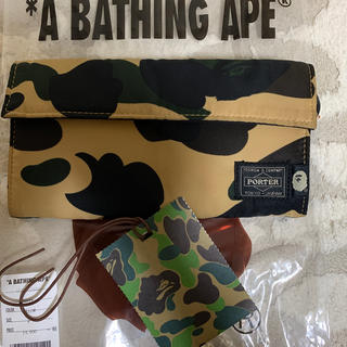 A BATHING APE - APE PORTERコラボ 長財布