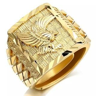 フリーサイズ 鳳凰 指輪 リング ゴールド