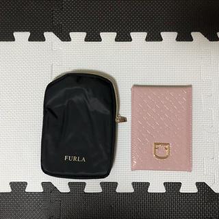 Furla - FURLA クロコダイル調 ミラー&ミラーケース