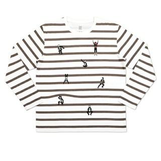 グラニフ(Design Tshirts Store graniph)の中古美品 グラニフ 仮面ライダー&ショッカー ボーダー長袖T 男女兼用Sサイズ(Tシャツ/カットソー(七分/長袖))