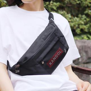カンゴール(KANGOL)の【KANGOL】BOX LOGO メッシュ ウエストバッグ(ウエストポーチ)