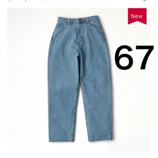 しまむら - しまむら プチプラのあや 神デニム ハイウエストデニムパンツ ブルー 青 67
