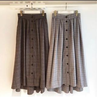w closet - グレンチェック ロングスカート