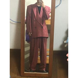 JOHN LAWRENCE SULLIVAN - ダブルスーツ  セットアップ ワインレッド 菅田将暉 ダブルジャケット ボルドー