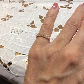 ノジェス(NOJESS)のノジェス  クラウンピンキーリング ダイヤ美品(リング(指輪))