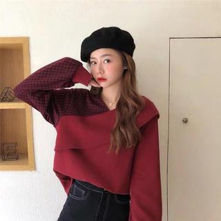 dholic - 新品未着用♡切り替え トップス チェク柄シャツ ♡韓国ファッション