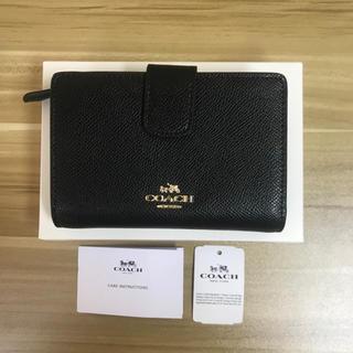 COACH - COACH ラグジュアリー F54010 二つ折り財布 ブラック
