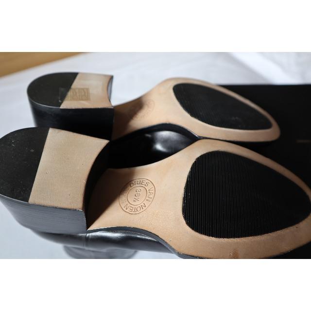 DRIES VAN NOTEN(ドリスヴァンノッテン)のDries Van Noten 黒革 ブーツ レディースの靴/シューズ(ブーツ)の商品写真