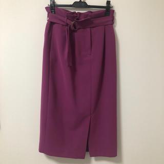 イエナスローブ(IENA SLOBE)のSlobe IENA ベルト付きタックタイトスカート(ロングスカート)