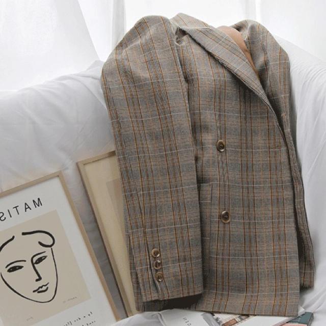 ZARA(ザラ)のグレンチェックジャケット レディースのジャケット/アウター(テーラードジャケット)の商品写真