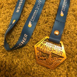 福岡マラソン2019 フィニッシュメダル finish