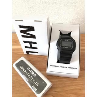 マーガレットハウエル(MARGARET HOWELL)のMHL × G-SHOCK 腕時計 * ユニセックス ブラック 箱有り(腕時計)