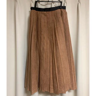UNITED ARROWS - ユナイテッドアローズ スエード プリーツスカート