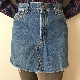 リーバイス(Levi's)の古着屋購入 used vintage Levi's リメイク デニムスカート(ミニスカート)