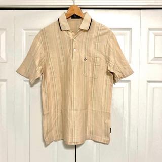 【美品】メンズ L ポロシャツ シャツ ベージュ ブラウン
