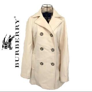 BURBERRY - burberry バーバリー クリーム アイボリー ピーコート レディース