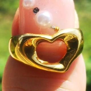 ティファニー(Tiffany & Co.)のティファニー オープンハート リング 750 ゴールド K18 金 指輪 ハート(リング(指輪))