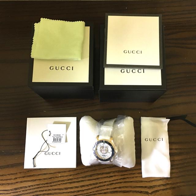 Gucci - 【定価半額以下!】GUCCI時計 イエローキャット YA136322 返品OKの通販