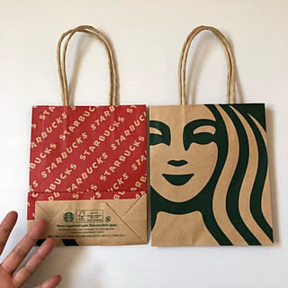Starbucks Coffee - 未使用 スターバックス ギフト用 ショップ紙袋 2枚セット ショッパー