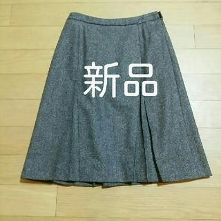 MK MICHEL KLEIN - 新品 MK MICHEL KLEIN 38(Mサイズ)ウール・プリーツスカート