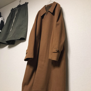 COMOLI - pure cashmere 100% Balmacaan coat