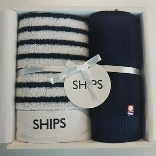 シップス(SHIPS)の《新品・今治タオル》シップス/フェイスタオル1枚 & ウォッシュタオル1枚セット(タオル/バス用品)