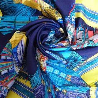 エルメス(Hermes)のクリスマス限定値引き 24日まで 新品未使用 エルメスカレ90 砂漠の革飾り(スカーフ)