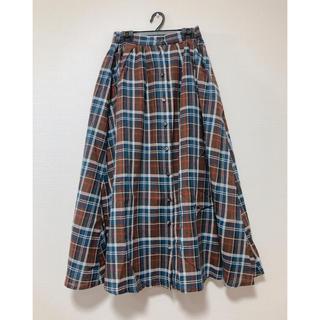 ウィゴー(WEGO)のマドラスチェックロングスカート(ロングスカート)
